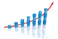 Buisness graph Royalty Free Stock Image