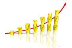 Buisness graph Royalty Free Stock Photos