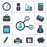 Buisness icons Stock Photos
