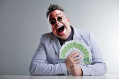 Buisness man with money Stock Photo