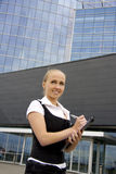 Buisness woman near the modern building. Stock Images