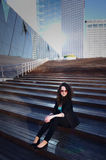Buisness woman on stairs Stock Image