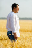 Buisnessman in  field Stock Images
