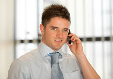 Buisnessman on the phone Stock Photo