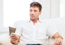 Buisnessman with smartphone Stock Photos