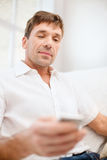 Buisnessman with smartphone Stock Photo