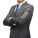 Buisnessman in suit and tie Stock Photo
