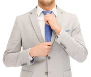 Buisnessman in suit and tie Royalty Free Stock Image