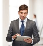 Buisnessman with tablet pc Stock Photo