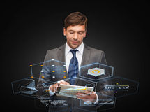 Buisnessman with tablet pc Royalty Free Stock Photo