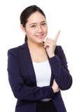 Buisnesswoman think of idea Stock Image