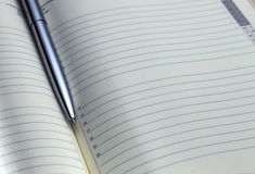 Buissines agenda book Royalty Free Stock Images