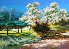 Buisson de floraison illustration stock