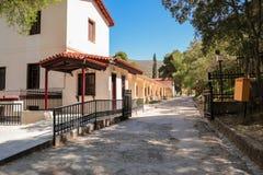 Buiten Archeologisch museum in Epidaurus, de regionale eenheid van Argolis, de Peloponnesus, Griekenland stock foto