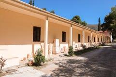 Buiten Archeologisch museum in Epidaurus, de regionale eenheid van Argolis, de Peloponnesus, Griekenland stock fotografie