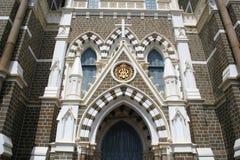 Buiten architectuur van Onderstel Mary Church in Bandra, Bombay binnen Royalty-vrije Stock Afbeeldingen