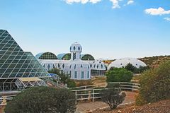 Buiten Biosfeer 2 in Tucson Arizona stock foto