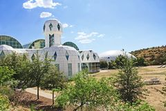 Buiten Biosfeer 2 in Tucson Arizona royalty-vrije stock foto