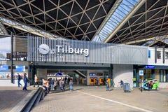 Buiten Centraal Station Tilburg, Nederland Stock Foto