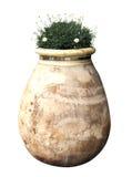 Buiten ceramische vaas Royalty-vrije Stock Foto