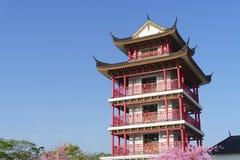 Buiten Chinese architectuur Royalty-vrije Stock Fotografie