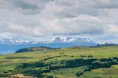 Buiten Coyhaique, Chili, in noordelijk Patagonië royalty-vrije stock foto's