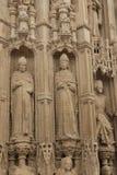 Buiten de kathedraal van Exeter stock foto
