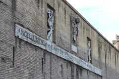 Buiten de muren van Vatikaan royalty-vrije stock fotografie