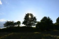 Buiten de stad - landelijk landschap Stock Foto's