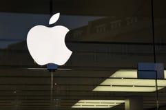 Buiten Detail van Apple Store Stock Afbeelding