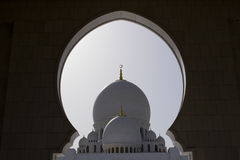 Grote moskee Abu Dhabi royalty-vrije stock foto