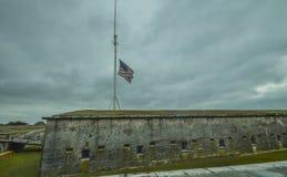 Buiten een Historische Burgeroorlog Fort2 stock afbeelding