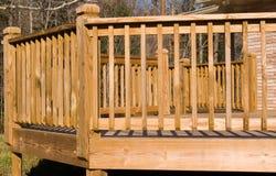 Buiten een houten dek Royalty-vrije Stock Afbeelding