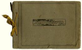 Buiten een oud fotoalbum stock afbeelding