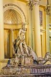 Buiten een pandal replicatrevi Fontein Stock Foto's