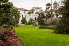 Buiten Kerstman Barbara Courthouse Californië royalty-vrije stock fotografie
