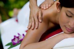 Buiten Massage Stock Foto's