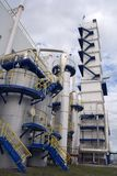 Buiten mening van cryogene (luchtscheiding) installatie Stock Afbeelding
