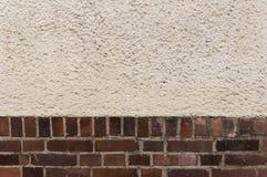 Buiten muur, bakstenenpleister, geweven achtergrond Royalty-vrije Stock Fotografie