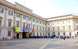 Buiten Palazzo Reale Royalty-vrije Stock Foto