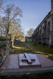 Buiten St Machar ` s Kathedraal in Seaton Park, Aberdeen Royalty-vrije Stock Afbeeldingen