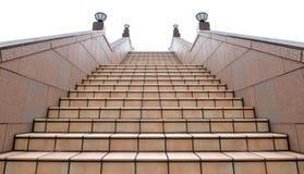 Buiten trap onder bewolkte hemel Royalty-vrije Stock Fotografie