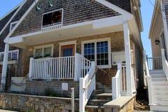 Buitenarchitectuur van MC Perkins Cove Restaurant, Maine, 2016 stock afbeelding