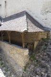 Buitenbeschermingsmuur van Chillon-Kasteel, Zwitserland Royalty-vrije Stock Afbeelding