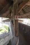 Buitenbeschermingsmuur van Chillon-Kasteel, Zwitserland Stock Afbeeldingen