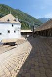 Buitenbeschermingsmuur van Chillon-Kasteel, Zwitserland Royalty-vrije Stock Fotografie