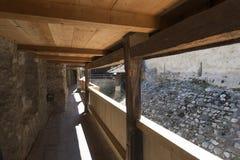 Buitenbeschermingsmuur van Chillon-Kasteel, Zwitserland Stock Foto's
