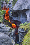Buitendeel van Trà ¼ mmelbach Fälle (waterval) Stock Foto's