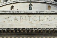 Buitendetail van Capitolio buildingin Havana, Cuba Stock Afbeelding