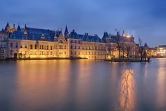 Buitenhof, domy Holenderski parlament w Haga zdjęcie stock
